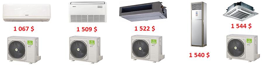 Сравнение цен на кондиционеры разных типов