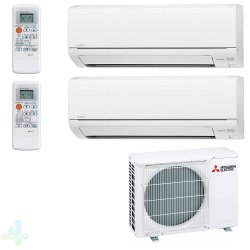 Мульти сплит-система Mitsubishi Electric на 2 комнаты (20+20 м.кв.)
